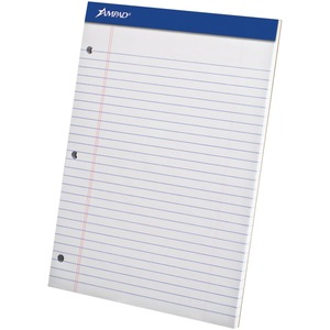 """Ampad Perforated Pad Three-hole Punched 8-1/2"""" x 11-3/4"""" 50shts"""