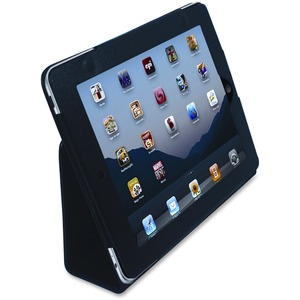 Vision Global® iPad Case with Stand Faux Leather Black