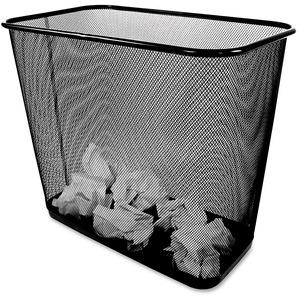 Winnable Mesh Rectangular Wastebasket Black
