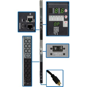 3-Phase Monitored Pdu 208v 8.6kw L15-30p 30a 6ft 0u TAA / Mfr. No.: Pdu3vn6l1530b