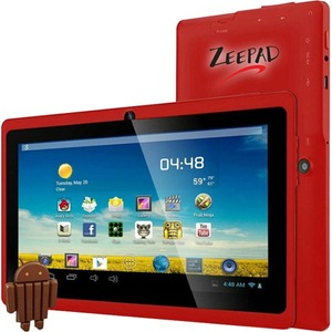 7in Android 4.4 Quad Core 4gb Bluetooth Dual Camera Wireless / Mfr. No.: 7drk-Q-Red