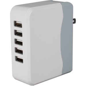 5port 6.8amp USB Universal AC Charger W/ Folding Power Plug / Mfr. No.: USBac-5