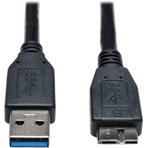 1ft USB 3.0 Superspeed Cable A To Micro-B M/M 10pc Bulk Pack / Mfr. No.: U326-001-Bk-10