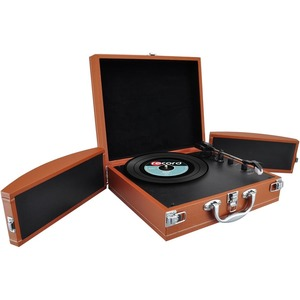 Bluetooth Classic Vinyl Record Player Turntable W/ Vinyl To Mp3 Recor / Mfr. No.: Pvttbt8br