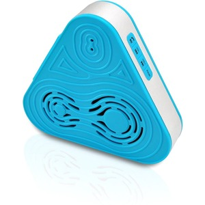 Tri-Way Clear Sound Bluetooth Wireless Waterproof Shower Speaker Blue / Mfr. No.: Psrb8bl