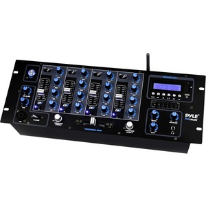 Bluetooth Dj Mixer 4ch W/ USB/SD Readers and LCD Digital Di / Mfr. No.: Pyd1962bu