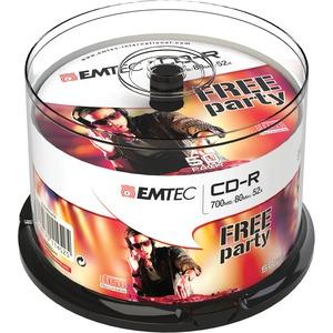 CD-R Emtec 700MB/80MIN - 52x Spindle de 50 - ECOC805052CB