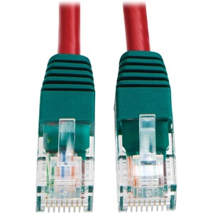 10ft Red Cat5e Cat5 Molded Crossover Patch Cable RJ45 M/M / Mfr. No.: N010-010-Rd