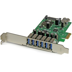 7pt PCIe USB 3.0 Adapter Card SATA Power Uasp Native Os / Mfr. No.: PexUSB3s7