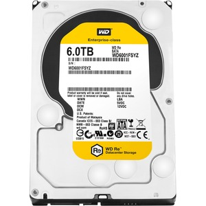 20pk 6tb Re SATA 7200 RPM 128mb 3.5in / Mfr. No.: Wd6001fsyz-20pk