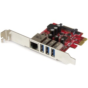 3port PCIe USB 3.0 Adapter Card USB 3 Standard and Low-Profile / Mfr. No.: PexUSB3s3ge