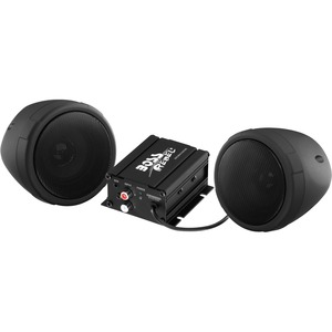 Motorcycle/Utv Speaker Syst Black Bluetooth Enabled/Audio Streaming / Mfr. No.: Mcbk420b