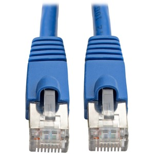 Augmented Cat6 Cat6a Shielded 10g Patch Cable RJ45 Blue 1ft / Mfr. No.: N262-001-Bl