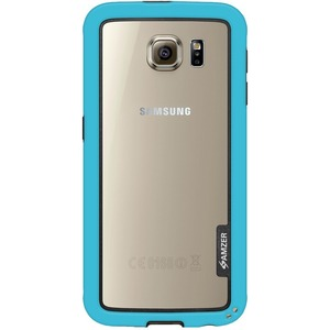 Amzer Blue Border Hybrid Bumper Case For Samsung Galaxy S6 G920 / Mfr. No.: Amz97619