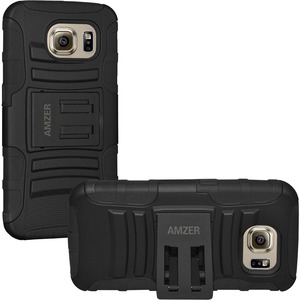 Amzer Black Rugged Kickstand Case For Samsung Galaxy S6 G920 / Mfr. No.: Amz97625