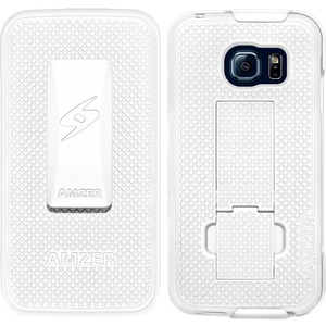 Amzer White Shellster Shell Holster For Samsung Galaxy S6 E / Mfr. No.: Amz97664