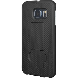 Amzer Black Snap On Kickstand Shell For Samsung Galaxy S6 Edg / Mfr. No.: Amz97665