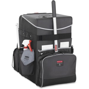 Rubbermaid Commercial Executive Quick Cart Caddy Dark Gray Small