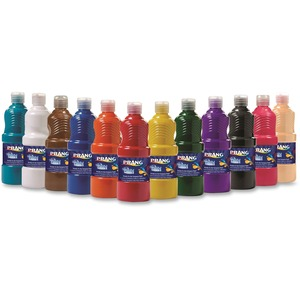 Prang® Ready-To-Use Tempera Paint 473 ml Assorted Classic Colours 12/box