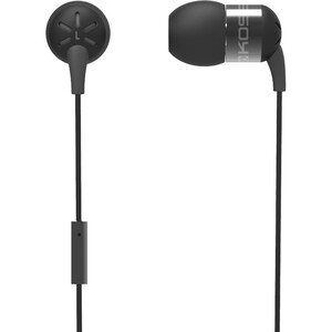 Black Form Fitting In-Ear Buds W/ Mic Aluminum Housing / Mfr. No.: Keb25i Black