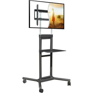 Mobile Tv Cart 32-70in 132 Lbs Adj Height With Shelf Lifetime / Mfr. No.: Ds-5070ct