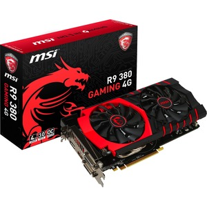 Radeon R9 380 4gb 150w Gaming 1displayport 1HDMI 2DVI 6pinx1 / Mfr. No.: R9 380 Gaming 4g