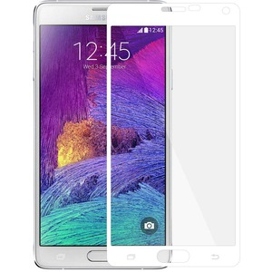 Edge2edge Tempered Glass For Samsung Galaxy Note 4 White / Mfr. No.: Amz97773