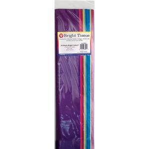 Hygloss® Non-Bleeding Tissue Paper Super Bright Colours 144/pkg