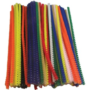 "Chenille Pipe Cleaners 12"" Black 100/pkg"