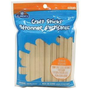 Craft Sticks Reg Natural 150/pkg