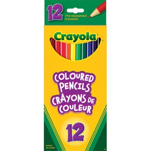 Crayola® Coloured Pencils Assorted Colours 12/pkg