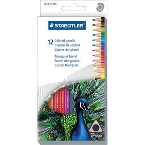 Staedtler® Triangular Coloured Pencils 3 mm Assorted Colours 12/pkg