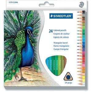 Staedtler® Triangular Coloured Pencils 3 mm Assorted Colours 24/pkg