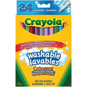 Crayola® Ultra-Clean Washable Fine Line Markers Assorted Colours 24/pkg
