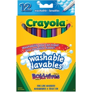 Crayola® Ultra-Clean Washable Fine Line Markers Bold-Vives Colours 12/pkg