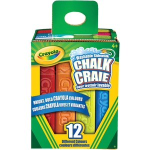 Crayola® Square Sidewalk Chalk Assorted Colours 12/box