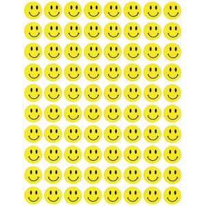 Hygloss Sticker Forms Small Smiley Face Stickers 3 sheets/pkg