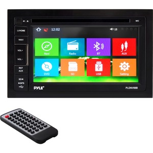 6.5in Ddin Ts Disp Receiver Bluetooth Disc/Mp4/Mp3/Gps/USB/SD/ Aux-In / Mfr. No.: Pldnv66b