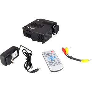Pocket Projector 1080p USB/SD HDMI/VGA/ Upside-Down Mountable / Mfr. No.: Prjg48