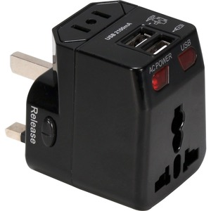 Premium World Power Travel Adaptor Kit W/Surge Prot and 2.1a / Mfr. No.: Pa-C4bk