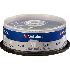 25pk Bdr 4x 25gb M Disc With Branded Surface Jewel Case / Mfr. No.: 98909