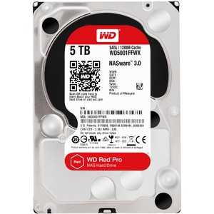 5tb Red SATA 6gb/S 7200 RPM 128mb 3.5in / Mfr. No.: Wd5001ffwx
