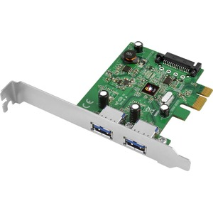 USB 3.1 2port PCIe Host Adapter(1x) Type-A / Mfr. No.: Ju-P20b12-S1