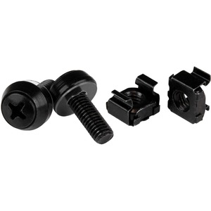 50pk Of M6 Mounting Screws And M6 Cage Nuts M6x12mm Black / Mfr. No.: Cabscrewm6b