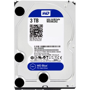 20pk 3tb Blue SATA 5400 RPM 64mb 6gb/S 3.5in PC Hard Drive / Mfr. No.: Wd30ezrz-20pk