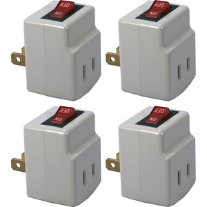 4pk Single Port Power Adaptor With On/Off Switch / Mfr. No.: Pa-1p-4pk