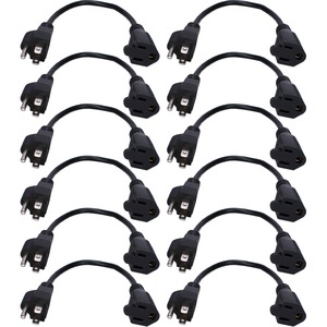 12pk 10in Outletsaver AC Power Adaptor / Mfr. No.: Pp-Adpt-12pk