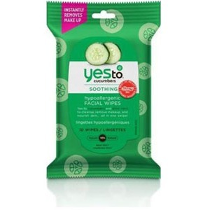 Yes To Cucumbers Travel Hypo Allergenic Facial Wipes 10ct Tr / Mfr. No.: 3371028