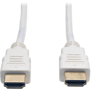 Tripp Lite High Speed HDMI Cable, Digital Video with Audio (M/M), White, 3-ft