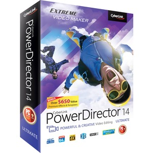 Powerdirector 14 Ultimate Win10 Win8.1/8/7 Vista Sp2 / Mfr. No.: Pdr-Ee00-RPM0-01